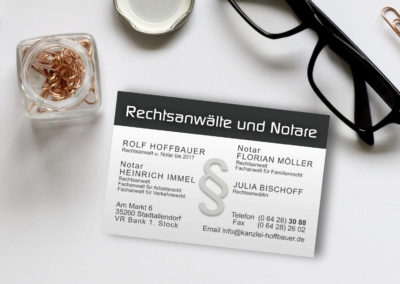 Hoffbauer-Visitenkarte