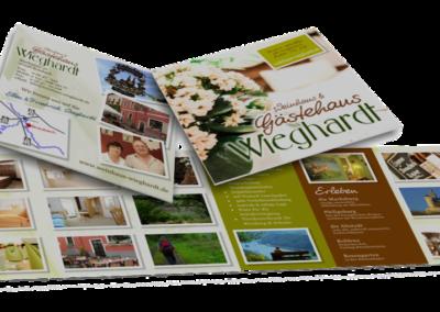 Printdesign Gästehaus Wieghardt Flyer
