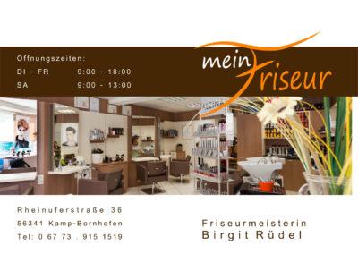Printdesign Mein Friseur Birgit Ruedel Anzeige