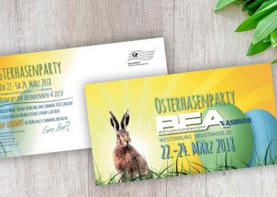 Printdesign BEA Fashion Maxikarte