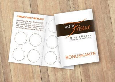 Printdesign Mein Friseur Birgit Ruedel Terminkarte