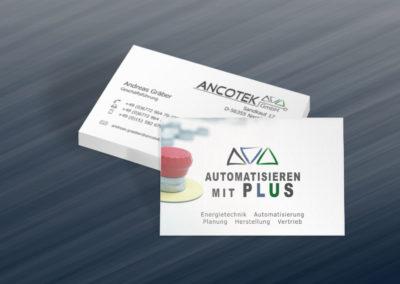 Printdesign Ancotek Visitenkarte