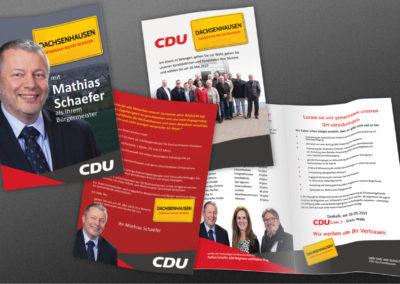 Printdesign CDU-Dachsenhausen Wahlwerbung