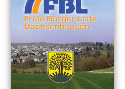 Printdesign FBL Dachsenhausen Wahlwerbung