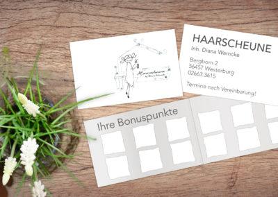 Printdesign Haarscheune Bonuskarte