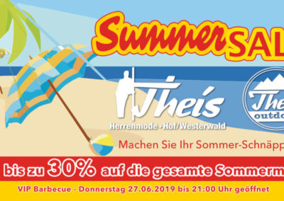 Printdesign Theis Herrenmode Summersale Maxikarte 2019