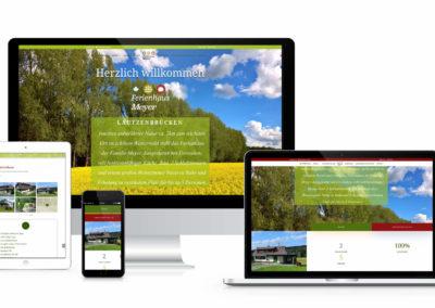 Webdesign Ferienhaus Meyer