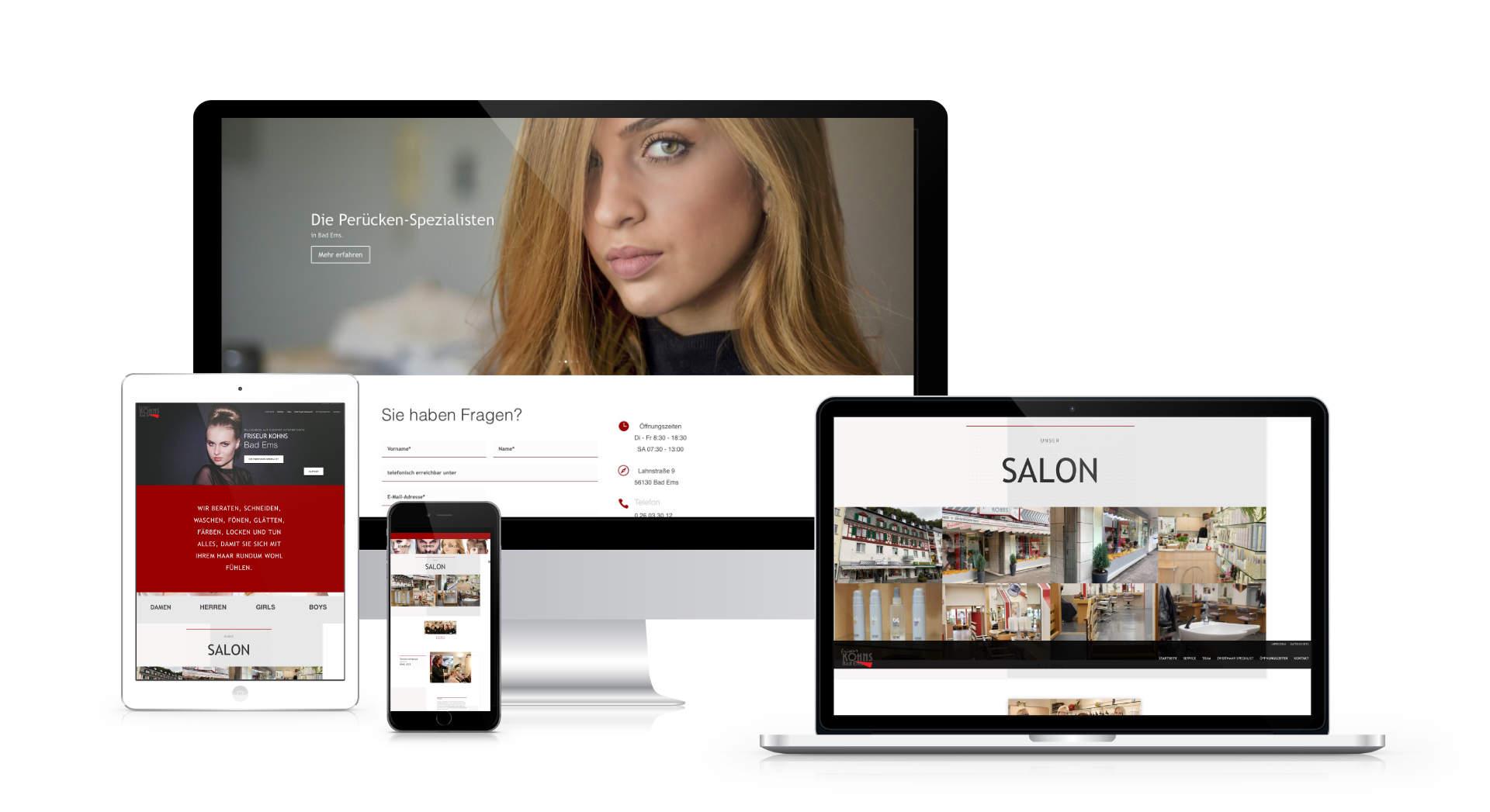 Webdesign Friseur Kohns Bad Ems