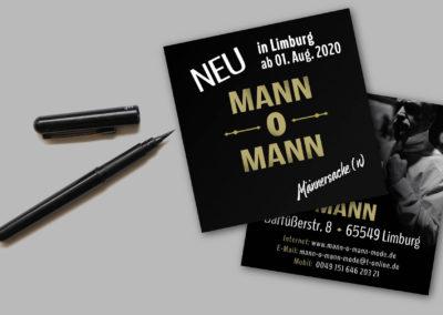 Printdesign Mann-o-Mann-Flyer | Michael Soblik