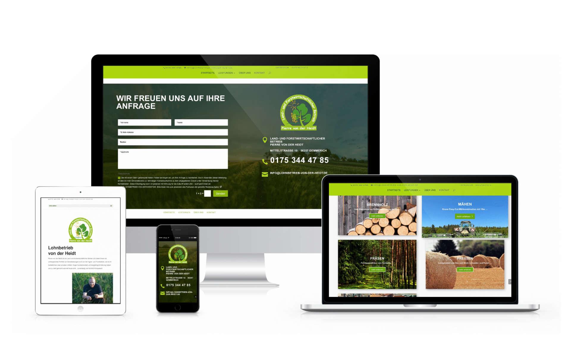 Webdesign Lohnbetrieb von der Heidt