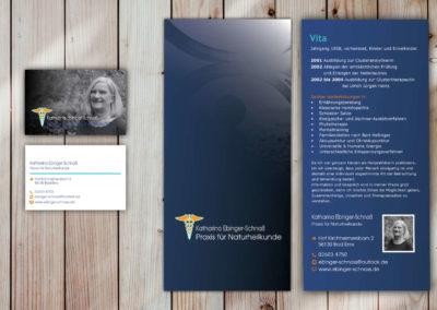 Printdesign Naturheilpraxis Ebinger-Schnass