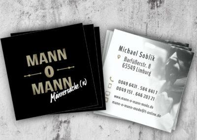 Printdesign Mann-o-Mann Visitenkarte 55x55