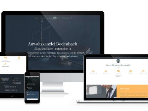 Webdesign | Anwaltskanzlei Bodenbach