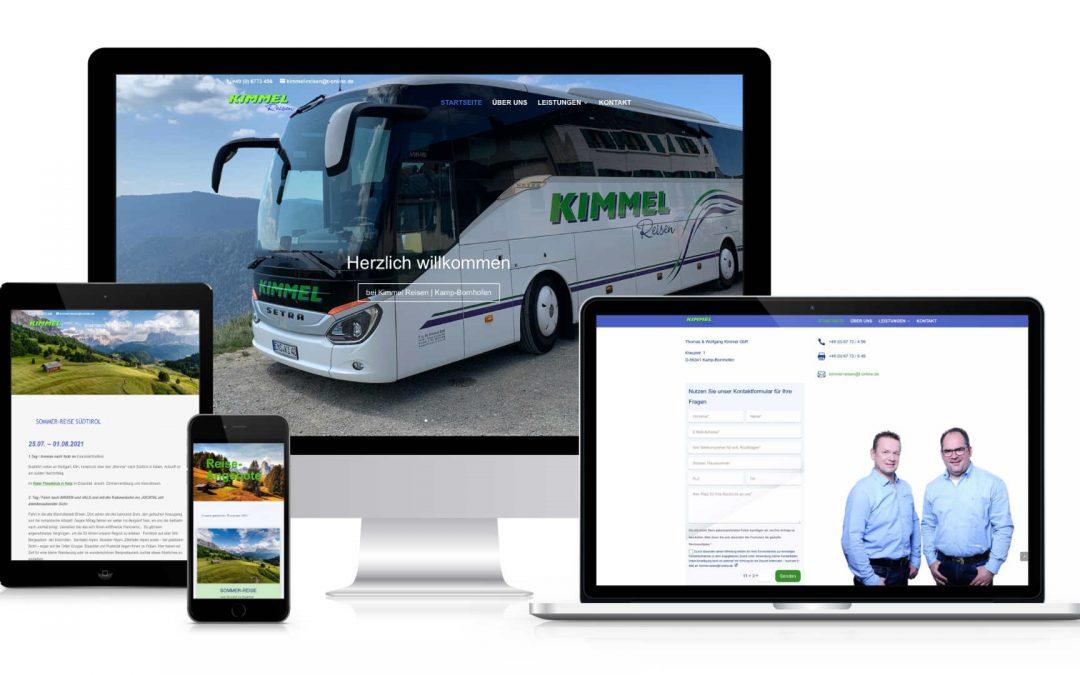 Kimmel-Reisen   webdesign